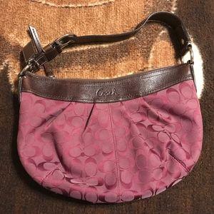 Coach handbag purple
